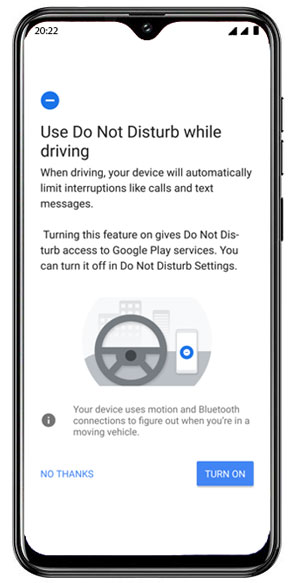 'Do Not Disturb' while driving